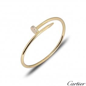 Cartier Yellow Gold Diamond Juste Un Clou Bracelet Size 16 B6048616